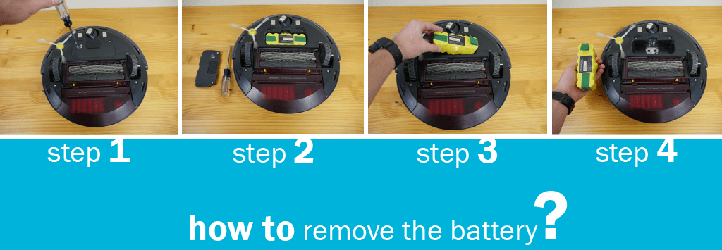 How to remove the battery on the Roomba 650