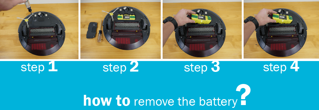 irobot roomba 870 how to battery