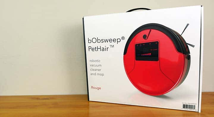 bObsweep PetHair robot vacuum packaging