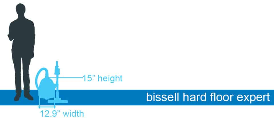 Bissell Hard Floor Expert Multicyclonic canister vacuum size and dimensions