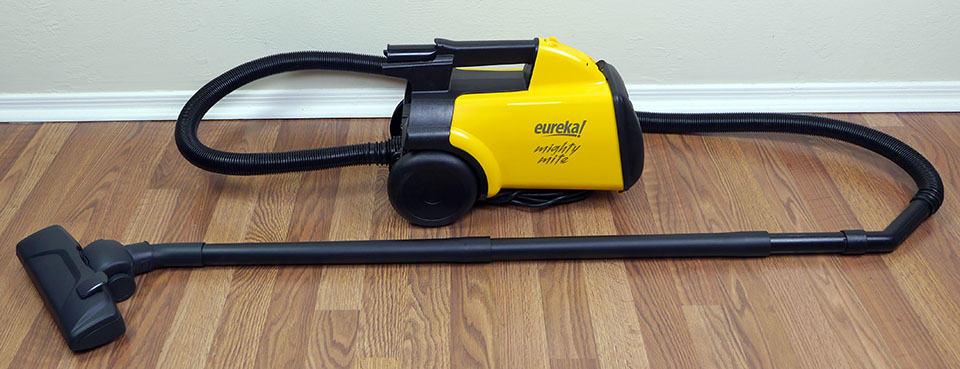 Fully assembled Mighty Might canister vacuum