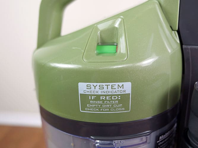 A colored label notifies users when maintenance is required - color will go from green to red