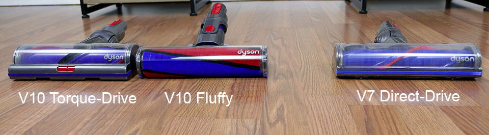 Dyson V7 vs. V10 cleaning heads