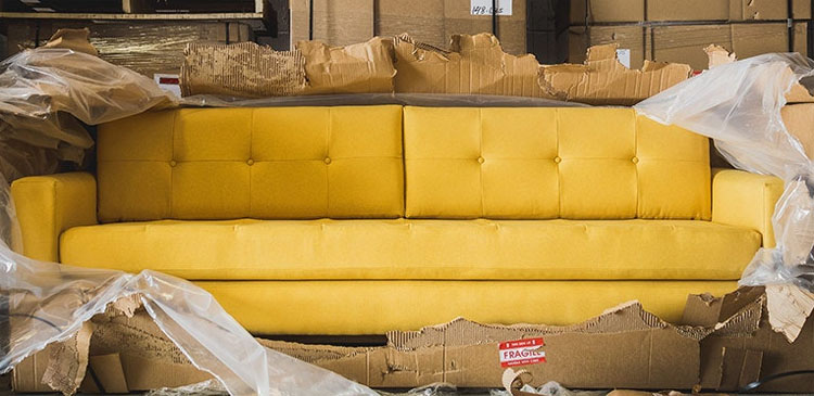 Joybird sofa shipping options