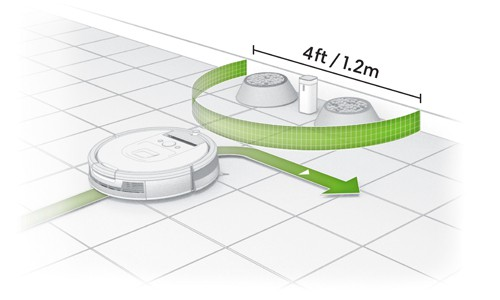 Roomba Halo Mode virtual wall barrier