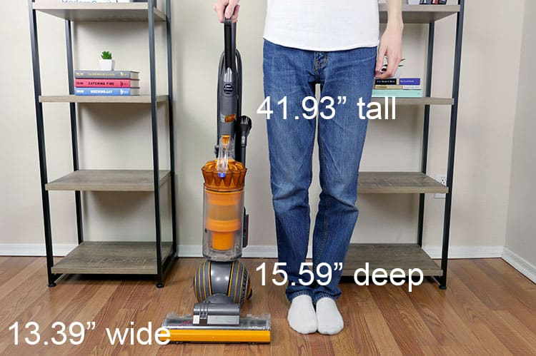 Size of the Dyson Ball Multifloor 2 vacuum