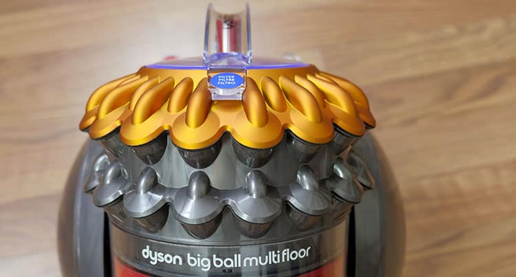 Radial cyclones on the Dyson Big Ball Multi Floor canister vacuum