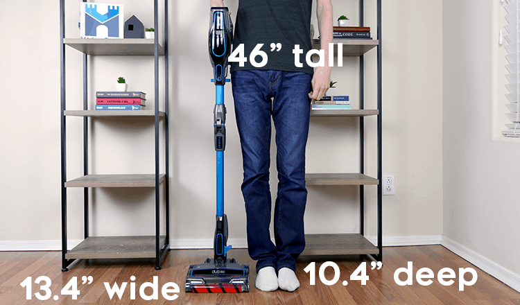 Size and dimensions of the Shark IONFlex DuoClean 2x Vacuum