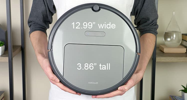 Size and dimensions of the Xiaowa Roborock e352