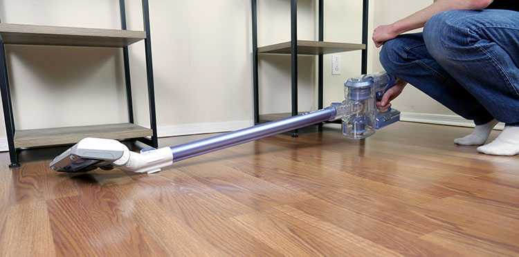 Tineco A11 cordless stick vacuum trying to lay flat