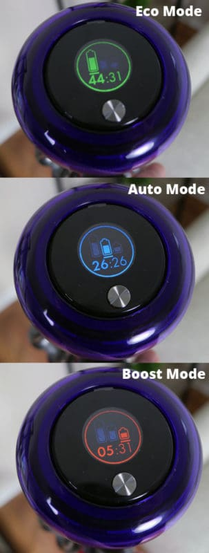 Eco, Auto, and Boost mode on the V11