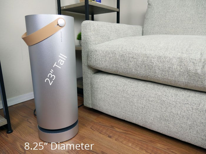 Molekule air purifier size & dimensions