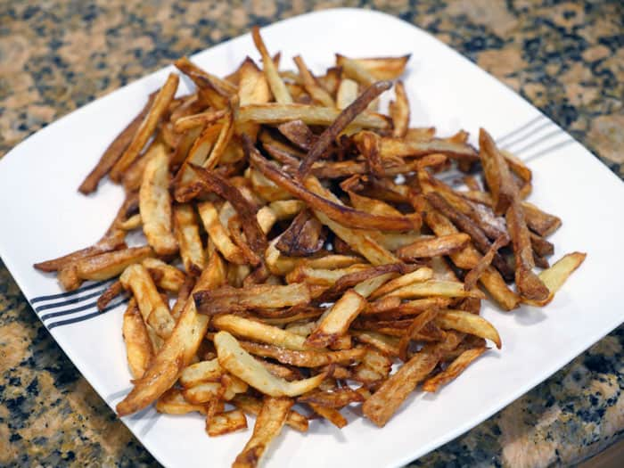 COSORI air fryer cooking french fries