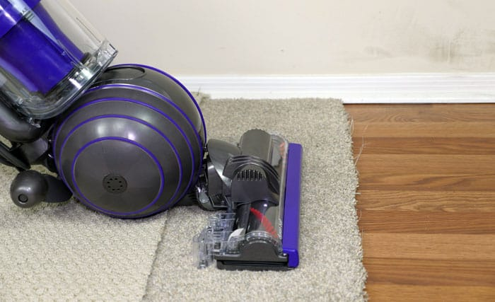 Cleaning carpets with the Dyson Animal 2 upright vacuum