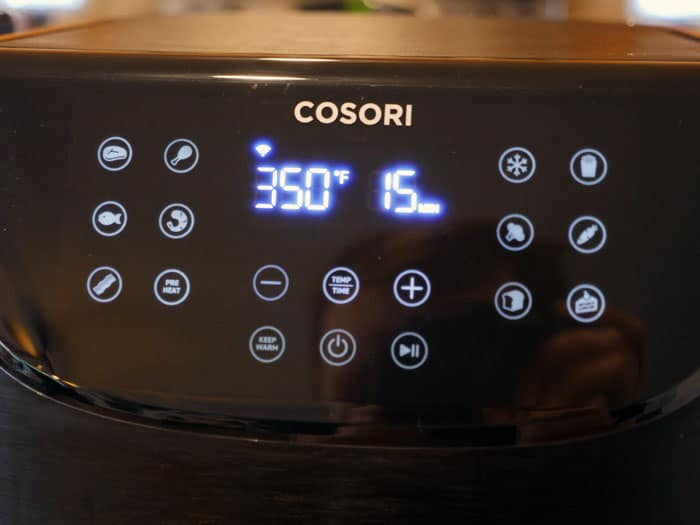 Cosori smart air fryer digital display