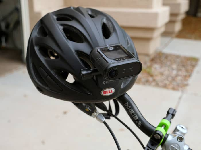 OCLU Bond mounted to bike helmet