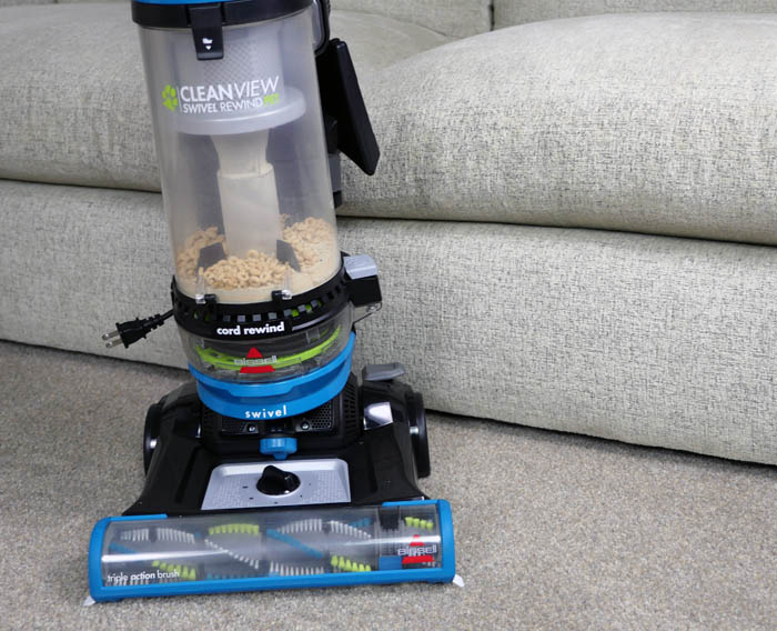 Bissell CleanView Swivel Rewind Pet vacuum on carpet