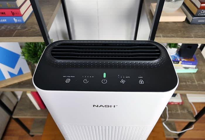 Display settings on the Nash air purifier