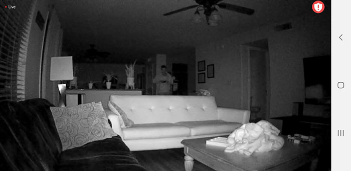 Arlo 1 night vision mode inside
