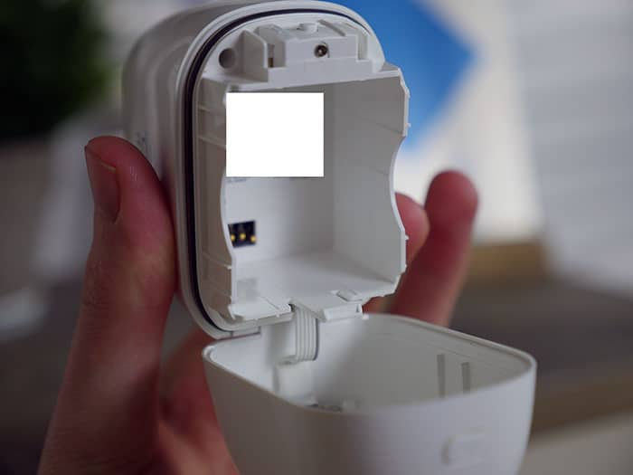 Battery slot on the Arlo Pro cameras