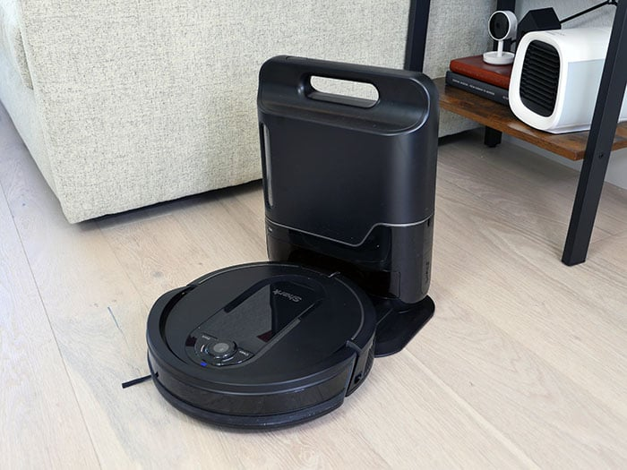 Shark IQ robot vacuum at docking station