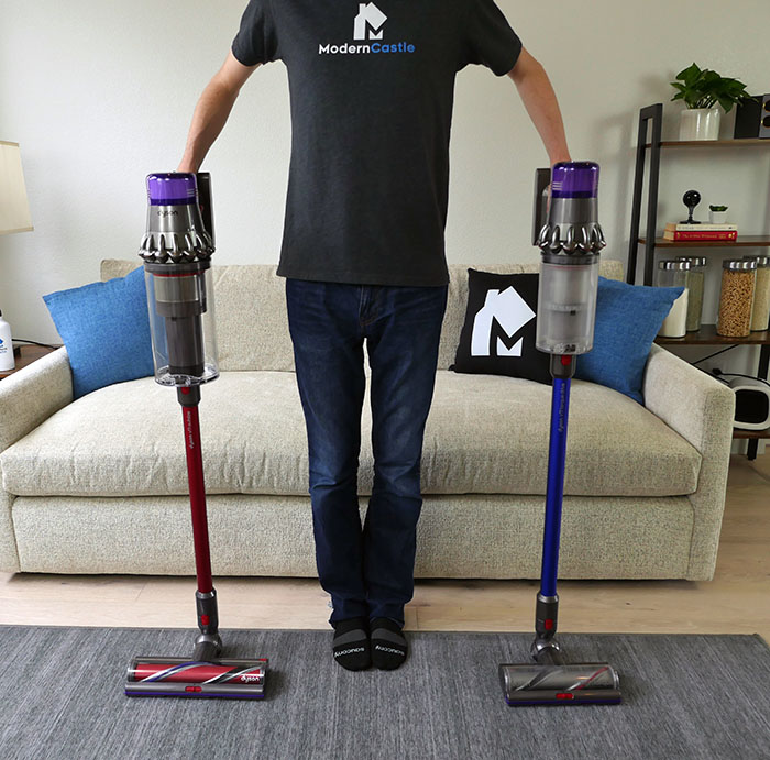 Dyson V11 Outsize compared to the V11 Torque Drive