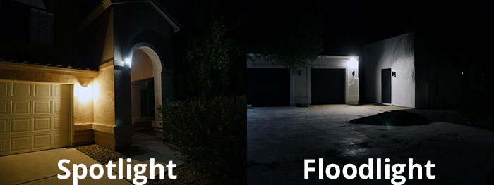 Ring Spotlight vs. Ring Floodlight: Brightness & Light Output