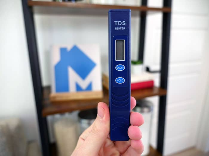 TDS meter (total dissolved solids)