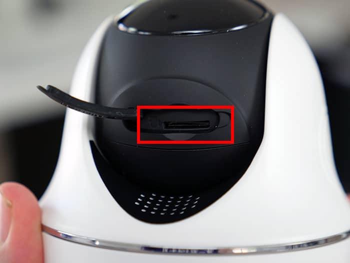SD card slot on Reolink Argus
