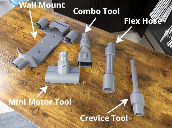 Parts and accessories for the Dreame T20 cordless stick vacuum
