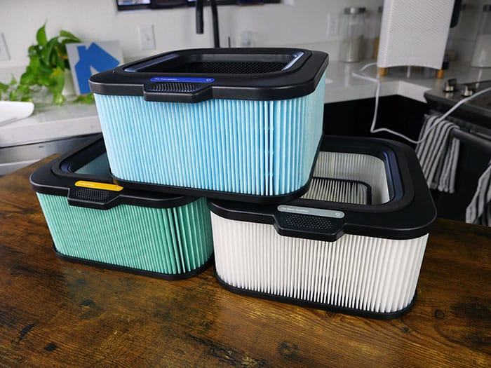 HEPA filters on the Mila air purifier