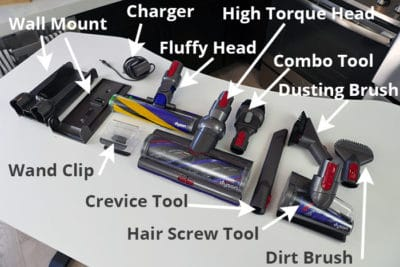 Dyson V15 tools, accessories, & attachments