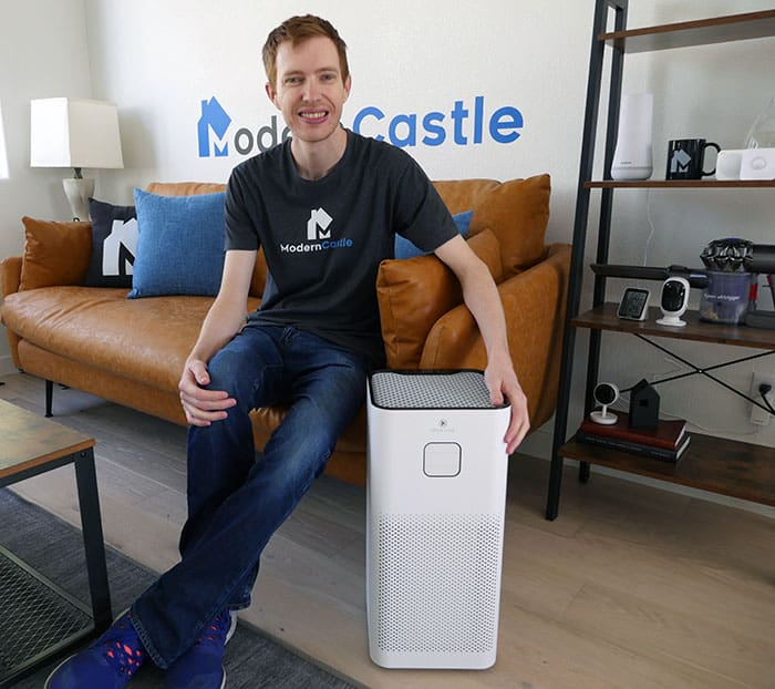 Relative size of the Medify MA 50 air purifier